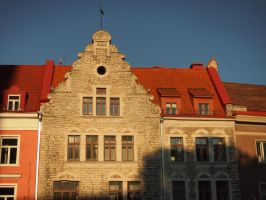 Tallinn - Old Town - Red roof building by ddmkro