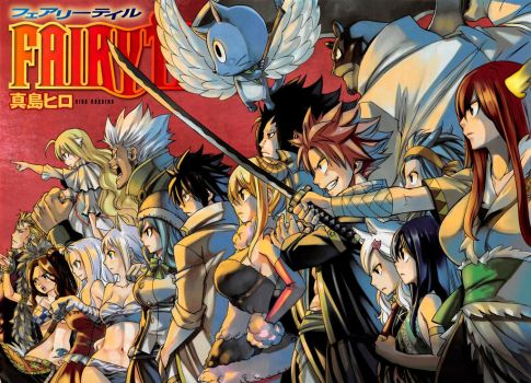 Fairy Tail Color Page Manga 459 by Unrealyeto