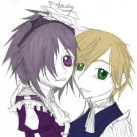 alce and leo partially colored by Asparagusunited