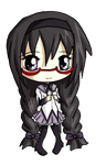 Homura-chan Chibi by IcyPanther1