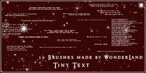 Tiny Text 1 by Foxxie-Chan