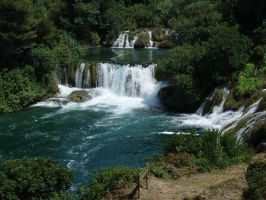 Beginning of Waterfall Krka by RavenFirefly