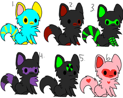 Some Adoptables by TaAwesomePeepsAdopts