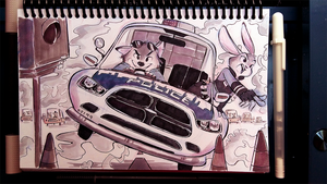 Day 23: Partners in Crime (Zootopia) by Samiriam