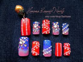 3D Nails: Summer Festival by faerhann