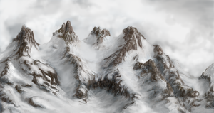 winter mountains by MeepGard