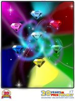 7 - Chaos emeralds by Diamond-ME