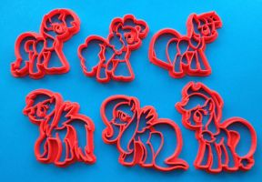 My Little Pony Friendship is Magic Cookie Cutter S by WarpzonePrints