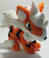 Pokemon - Arcanine custom plush by Kitamon