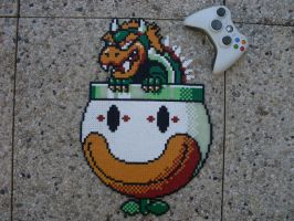 Super Mario World Bowser Final Boss Perler Bead by BigBossFF