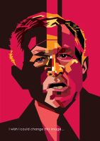 GW Bush in WPAP by wedhahai