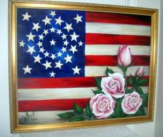 Old Glory and roses. American history by SOFIAMETALQUEEN