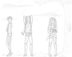 OC triplets [WIP] by English1991