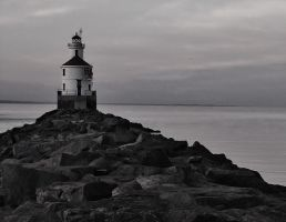 Lighthouse Black and White by MBurgraff