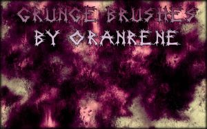 Grunge Brushes by oranrene by oranrene