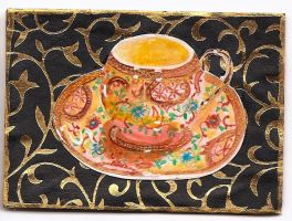 ATC- ACEO TCup Asian by claudiamm37