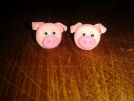 Pig studs by MeticulousBlue