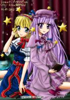 Color - Alice And Patchouli Touhou-Arisutan by krow000666