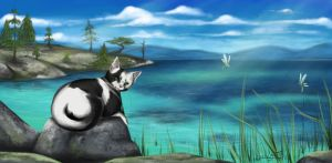 Sunny Afternoon - Art Trade by Thilil