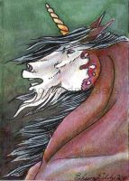 Unicorn ACEO by SpottedPegasus