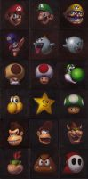 21 Mario Characters by iconicafineart