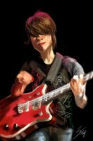 Sara Red Guitar by fishbizkit