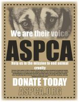 ASPCA Animal Handbill by t3hsilentone
