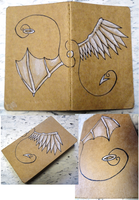 Moleskine Cover - Winged Dream by eagle-elf