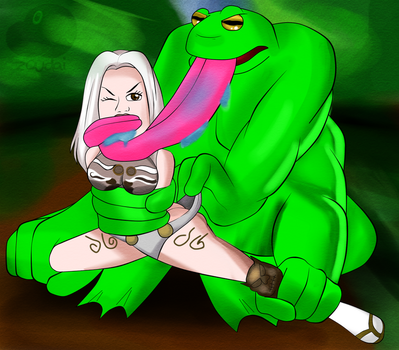 COMMISSION: Attack of the Mutant Frog by Zoudai