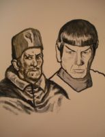 Pope Innocent X and Spock by Jeremiah29