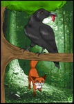 The Fox and The Crow by cocoasaurus