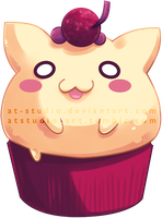 Commission - Neko cupcake by AT-Studio