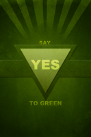 Say YES to green by Kingxlol