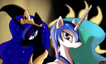 Princess Luna and NightmareSun by Dragk