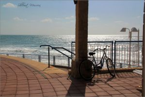 Bicycle  on the beach by ShlomitMessica
