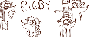 Rigby Skecthes in DA Muro by LotusTheKat