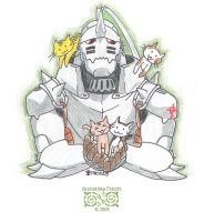 FMA - Alphonse with Kitties by vidramidra