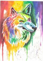 My first rainbow wolf by Blaz1ng-Note