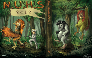 NUHS Yearbook Cover 2012 by Ondinel