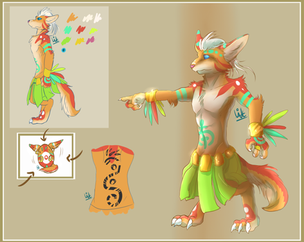 tribal fennec [hatching] by Withelias
