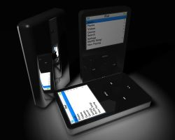 iPod 80GB 3d render by Subodai
