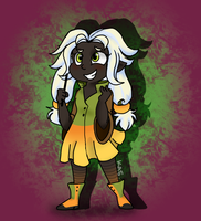 Lil Pumpkin Witch by KASAnimation