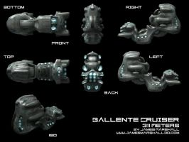 Gallente Ship Render by JimmyMarshall