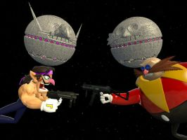 Battle of the Death Stars by JJsonicblast86