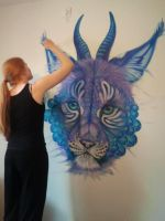 Mural WIP 2 by Maquenda
