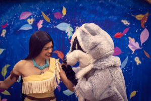 Pocahontas and Meeko. by Noitcefni