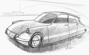 Citroen DS by MartinEDesign