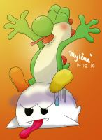 Yoshi and Boo by Smikimimi
