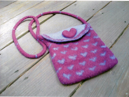 Felted Hearts Bag by EricaVee