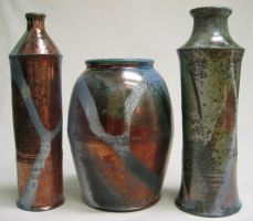 3 Raku Jars by anubistj